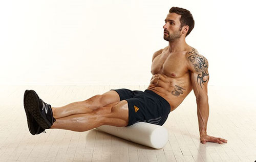 rolling the hamstrings