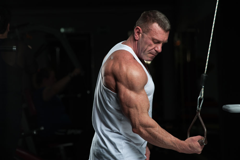 single arm reverse tricep extension