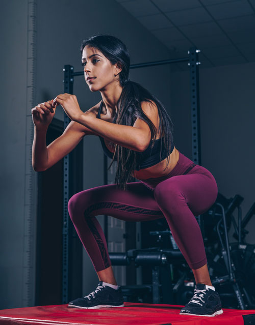 air squat bodyweight exercise