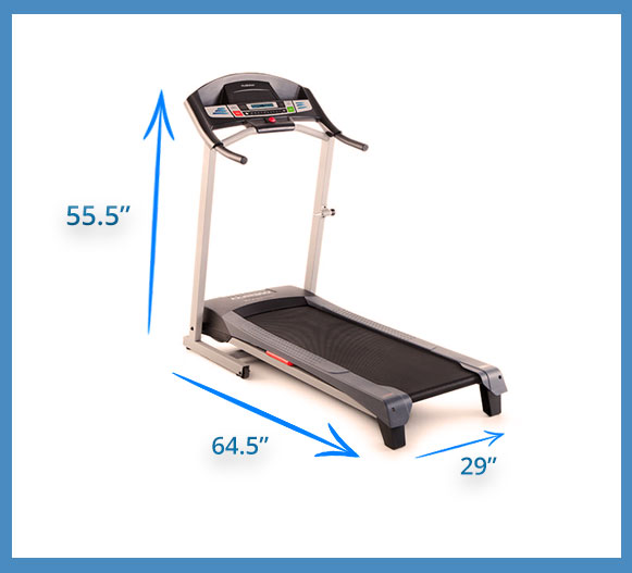 The Weslo Cadence g 5.9 treadmill dimensions