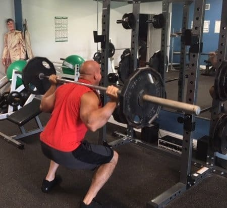 strength training with squats